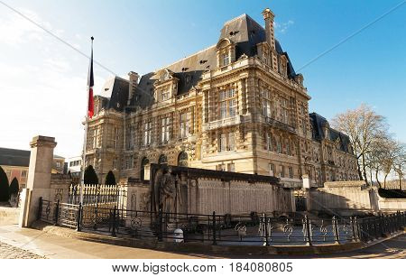 The town hall of Versailles city - France.
