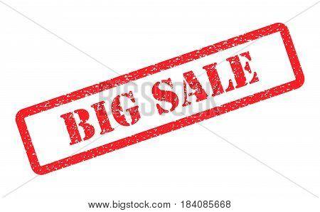 big sale red frame stamp on background