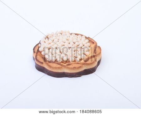 Assorted fresh homemade cake isolated on a white background