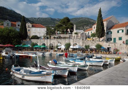 Harbor In Broc Island Croatia