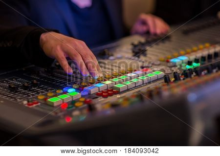 DJ for the equipment volume, play, professional,
