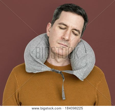 Man Neck Pillow Comfortable Sleeping Relaxation