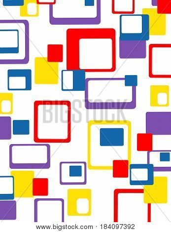 Abstract geometric colorful pattern illustration art design