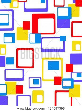 Abstract geometric colorful pattern vector illustration art