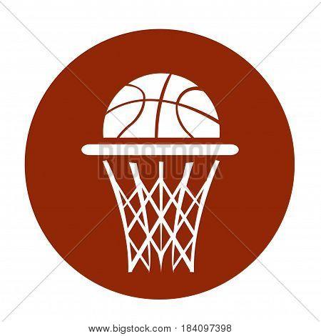 Basketball illustration art design on white background