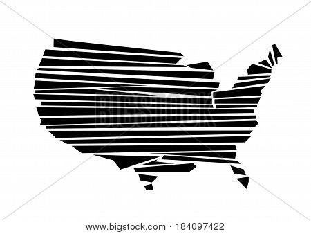USA map illustration art on white background