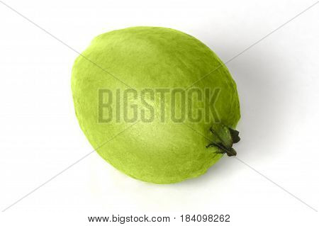 Tasty green guava isolated on white background
