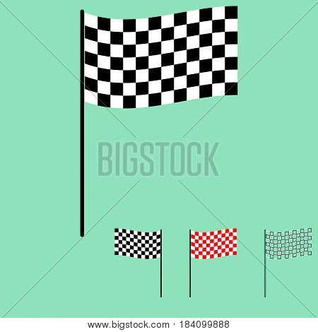 Racing Flag Black And White Colour.