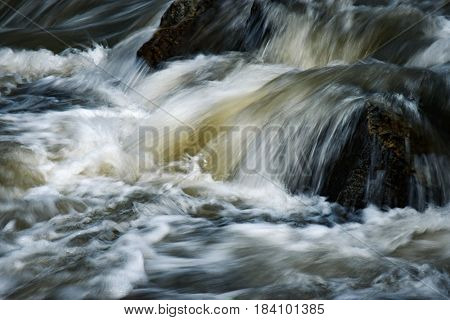 nature background Small waterfall on the river
