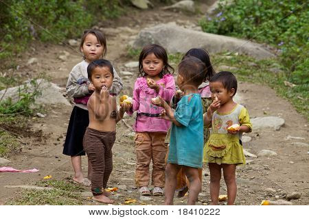 Vietnamese Children Sapa