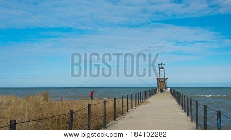 Lighthouse On Michigan Lake