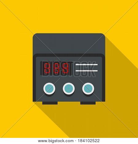 Professional tattoo machine icon. Flat illustration of professional tattoo machine vector icon for web on yellow background