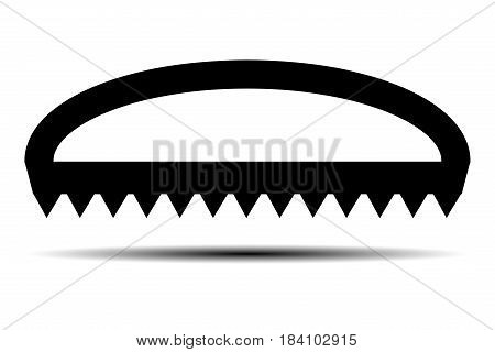 Hand saw vector icon , saw ,