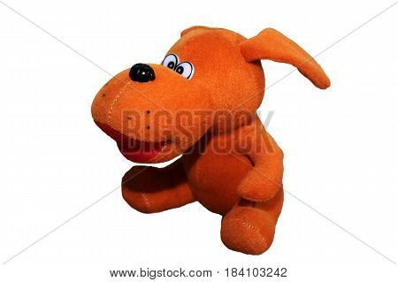 Isolated Plush Toy Dog, Colored Toy