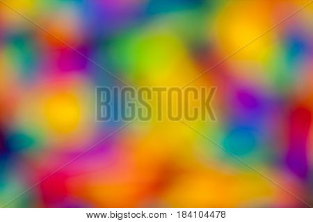 Awesome abstract colorful multicolor rainbow floral blurred background for design. Out of focus