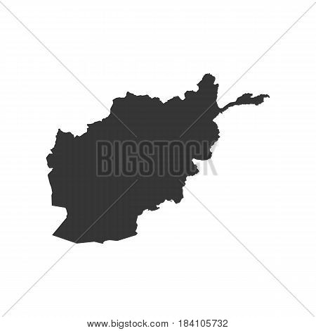 Afghanistan map silhouette on the white background. Vector illustration
