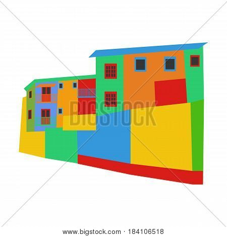 La Boca district Argentina on the white background. Vector illustration