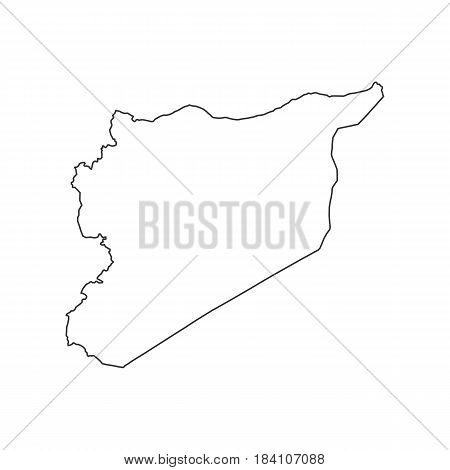 Syria map silhouette on the white background. Vector illustration