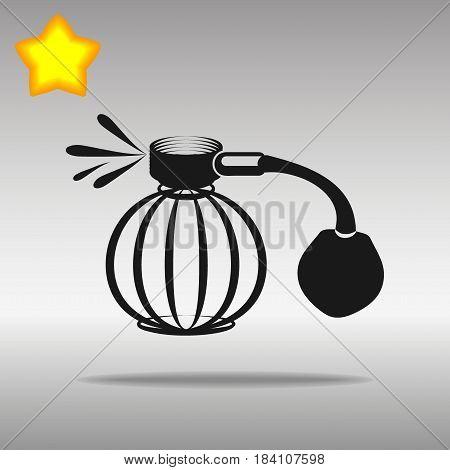 Perfume aerosol black Icon button logo symbol concept high quality on the gray background