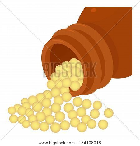 Bottle of homeopathic medication icon. Cartoon illustration of bottle of homeopathic medication vector icon for web
