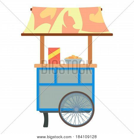 Mobile cart for sale food icon. Cartoon illustration of mobile cart for sale food vector icon for web