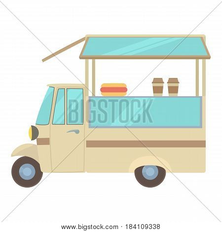 Auto cafe icon. Cartoon illustration of auto cafe vector icon for web
