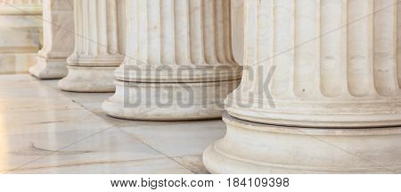 Greek Marble Pillars Detail