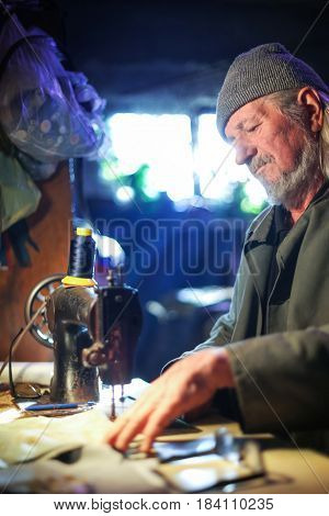 Man With Sewing Machine