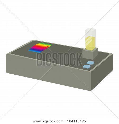 Spectrometer icon. Cartoon illustration of spectrometer vector icon for web