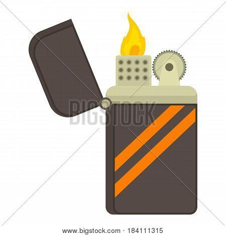 Cgarette lighter icon. Cartoon illustration of cigarette lighter vector icon for web