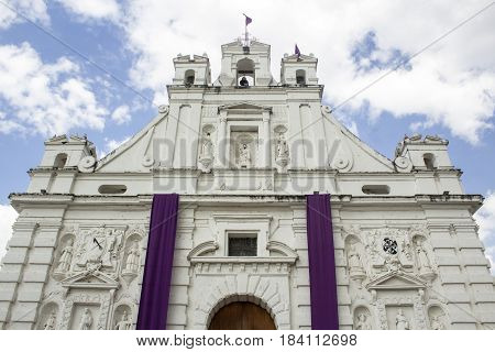 It takes from below of the Catholic Church of Rabinal Baja Verapaz, Guatemala. It shows all the splendor of architecture after the conquest.