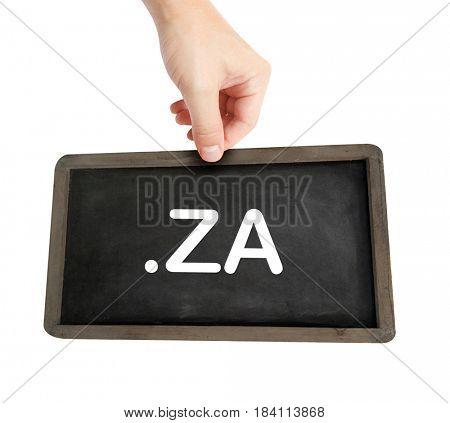 The .za domain name on a keyboard key