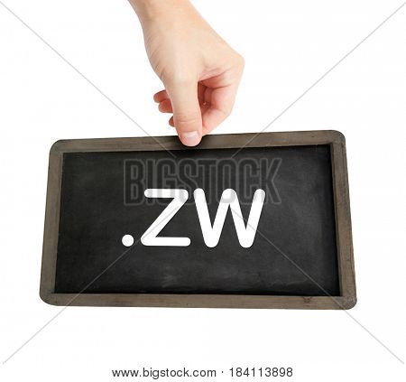 The .zw domain name on a keyboard key