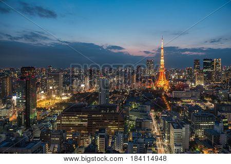 Tokyo Tower and Tokyo city Tokyo Japan