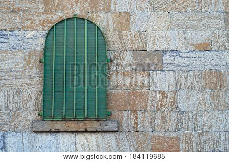 jail window old stone wall gothic building dungeon