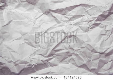 Texture of white crumpled paper background. paper.