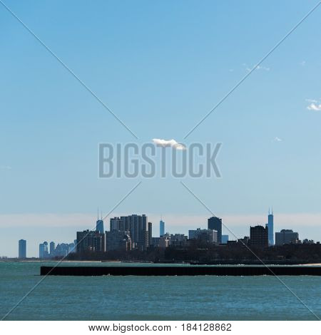 Chicago Skyline views from across the lake