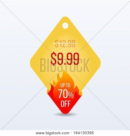 Hot Price. Special offer sale tag discount symbol retail sticker sign price. VECTOR