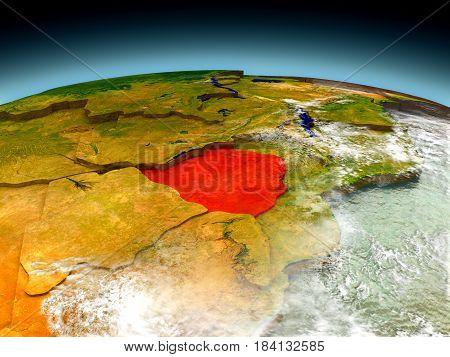 Zimbabwe On Model Of Earth