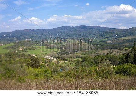 Spring Landscape In Tuscan Hills