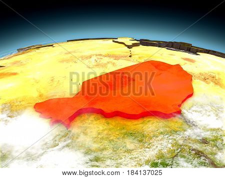Niger On Model Of Earth