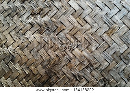 surface old  basketry made from bamboo for background