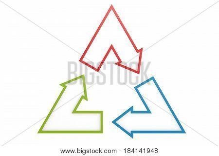 Triangle Arrow, Isolated