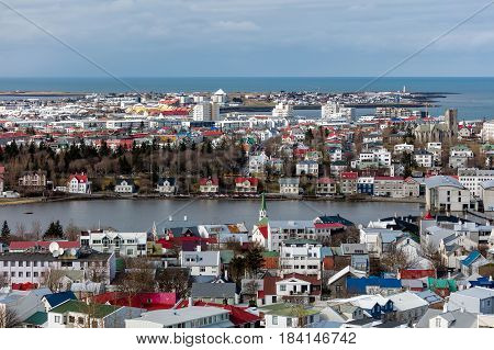 View Of Reykjavik, The Capital Of Iceland