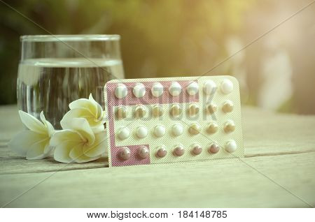 Oral Contraceptive Pills Education Wth Triphasic Pills.