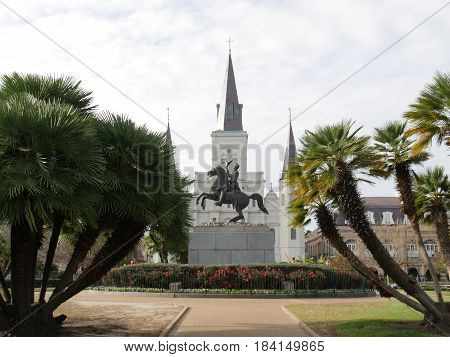 Jackson Square, New Orleans A historic park in the French Quarter of New Orleans, Louisiana and is a favorite hangout of the public.