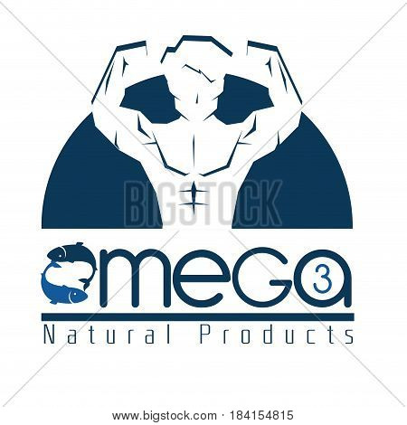 omega 3 product healthy vector illustration design