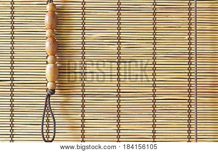 Bamboo Curtain Close up Background with space for text