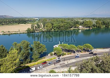 This English-style city park is located in the center of the city Avignon on the Rocher des Doms 30 m above the Rhone. It offers a wide view of the old town the Rhone and Pont D' Avignon the valley and the Mont Ventoux.