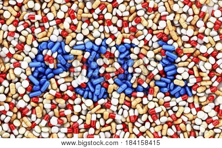 3D Capsules And Pills With